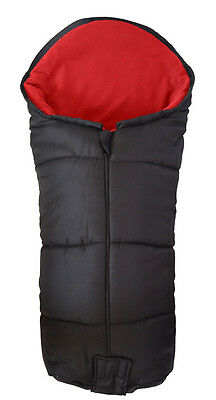 Deluxe Footmuff / Cosy Toes Compatible with Maclaren Quest Sport Pushchair Red