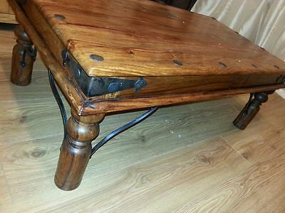 Solid indian jali sheesham wood coffee table