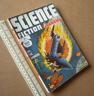 1950s Science Fiction Quarterly #5 Vintage British Sci-Fi Pulp Mag Great Cover