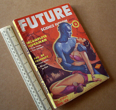 1950s Future SF Stories #2 Vintage British Issue Sci-Fi Pulp Mag Great Cover Art