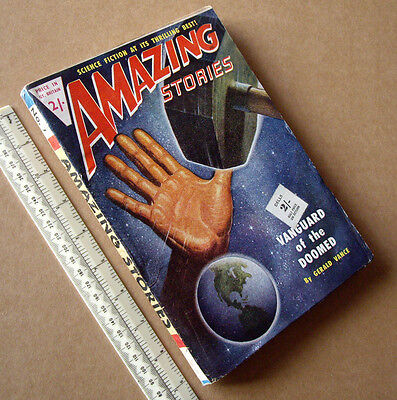 1950s Amazing Stories #7 Vintage British Issue Sci-Fi Pulp Mag Great Cover Art