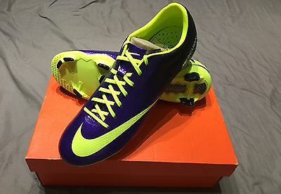 Nike Mercurial Veloce IV FG Men's UK Size 10 Electro Purple Football Boots Rugby