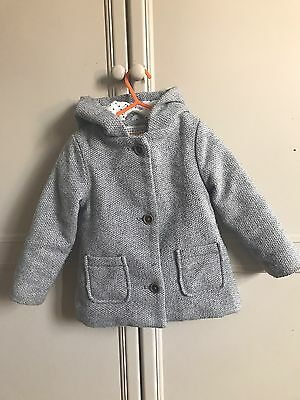 John Lewis Children Baby Coat Grey 12 - 18 Months