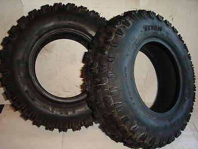 Pair Of Tires 4.80-8 Snow Tread Titan Snow thrower Tiller Blower Snowblower Lug