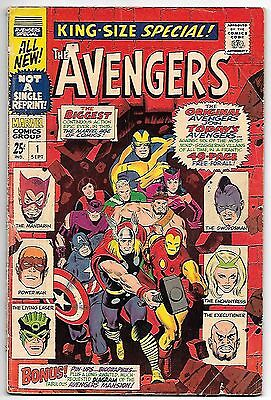 The Avengers Annual #1 (1967 fn 6.0) price guide value: $33.00 (£24.00)