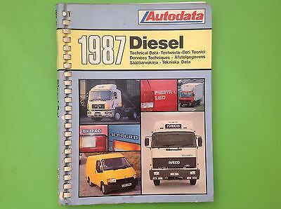 Autodata 1987 Diesel Technical Data - Workshop Manual Book