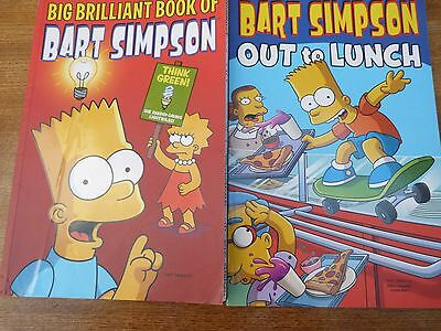 Simpson Comics  Bart Simpson out to lunch and big brilliant book of bart simpson