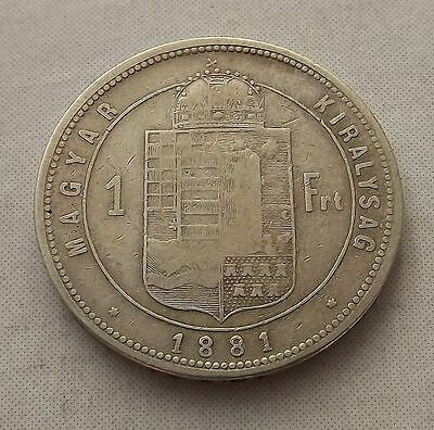 Hungary 1881-KB 1 Forint -VF Silver |C2451