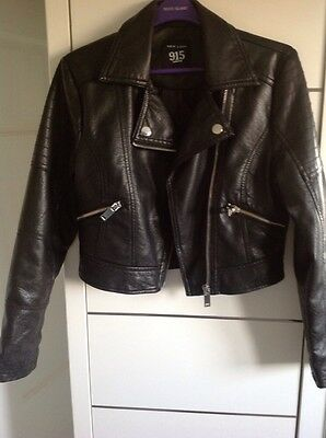 girls faux leather jacket age 9 New Look
