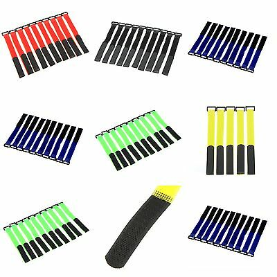 10x RC Car Battery Straps Strong Secure Reusable Lipo Antiskid Tie Down Colours