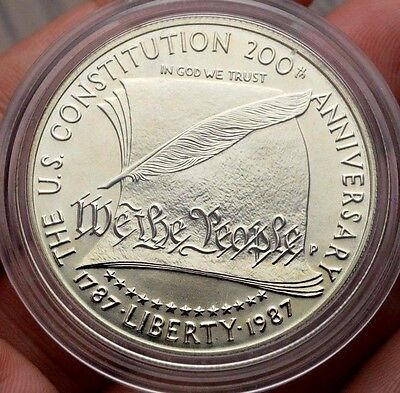 1987 1$ Silver Constitution Usa Crown Coin Liberty Dollar United States