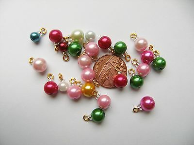 25 x Dolls House Christmas Tree Decorations Baubles~12th ~ XMAS GOLD MIXED BALLS