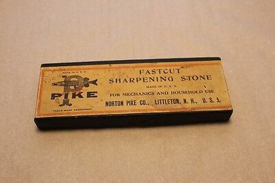 Straight Razor Sharpening Stone Fastcut- Pike, Made In Usa