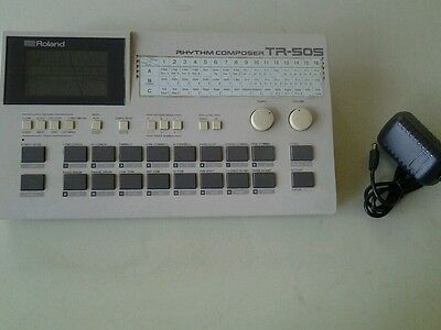 Excellent Vintage Roland Tr505 Drum Machine With Manual & Adapter