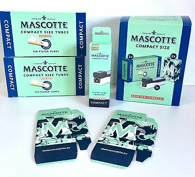 MASCOTTE 240 Compact Size Tubes 62mm Compact Filter Tube Injector + 2 Pocket Box