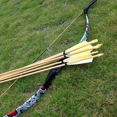 Traditional craft and modern style of traditional anti bent bow 20-60#+6PK arrow
