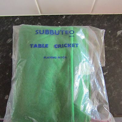 Vintage Subbuteo Cricket playing pitch unused in bag
