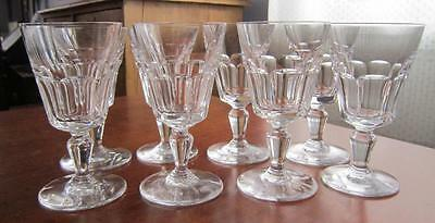 """8 Mint Baccarat Crystal Bretagne Sherry Cocktail Glasses 4.25"""" All Excellent"""