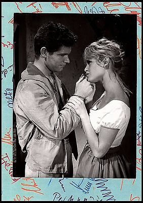 BRIGITTE BARDOT et STEPHEN BOYD  - photo originale BIJOUTIERS CLAIR DE LUNE