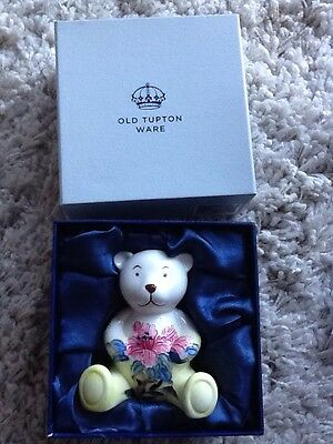 Old Tupton Ware Pink Lily Flower Teddy Bear TW6921 New & Boxed