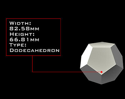 DODECAHEDRON 82mm X 66mm Orgonite Casting Mold, Golden Ratio Geometry, HDPE