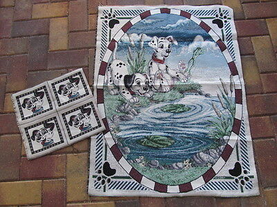 2 DISNEY Tapestry Pieces for Wall Hanging & Pillow Top From Smoke Free Home