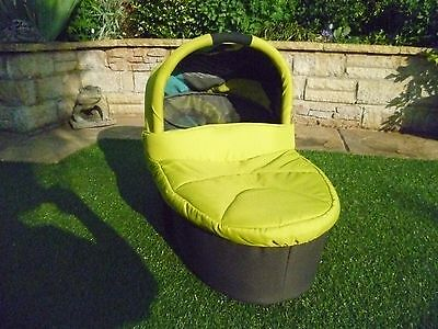 Mamas&papas Carrycot Lime Jelly/patterned Lining Excellent Condition