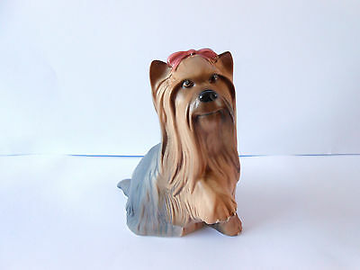 Beswick Vintage Yorkshire Terrier Dog With Bow Rare Matt Finish