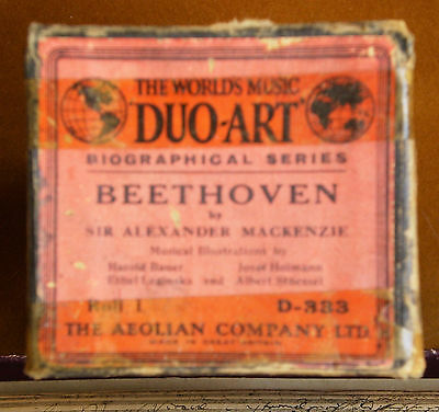 UNUSUAL AEOLIAN DUO-ART PIANOLA ROLL - Beethoven Biographical (see description)
