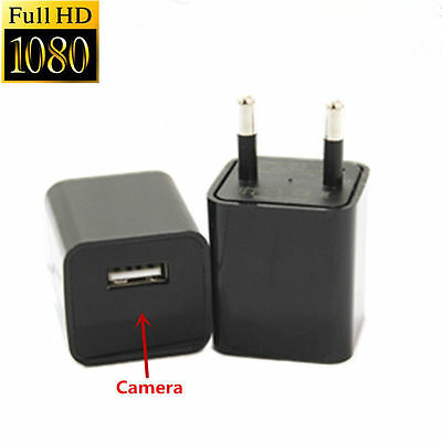32GB HD 1080P Spy Camera IN USB Wall Charger Hidden AC Adapter Home Security DVR