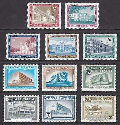 GUATEMALA Sc C274-82A BUILDINGS CPLT ISSUE 1964-5  MINT