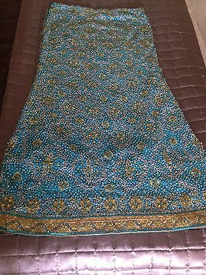 Lime Green and Turquoise Lengha Suit