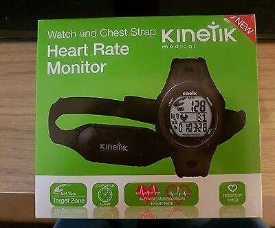Kinetic Heart Rate Monitor Watch And Chest Strap