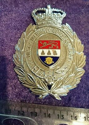 West Mercia Constabulary Police Helmet Plate Badge