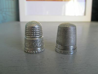2 Sterling Silver Thimbles