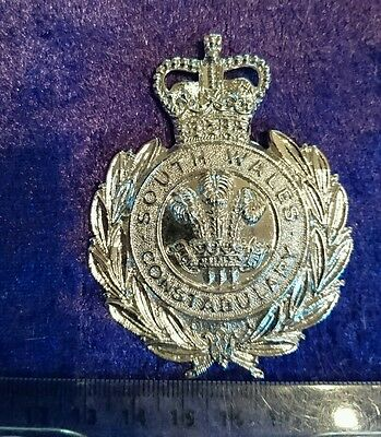 South Wales Constabulary Police Helmet Plate Badge