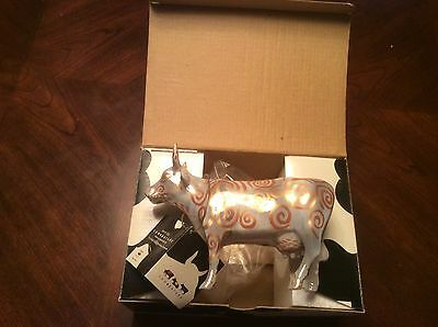 Cow Parade METALLICOW Figurine • 7306 • NEW COMPLETE WITH BOX AND TAG