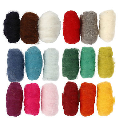 Pack of carded wool for felting or embellishing machine 3x10g balls