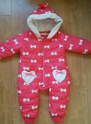 Beautiful baby girl snowsuit age 12-18 months