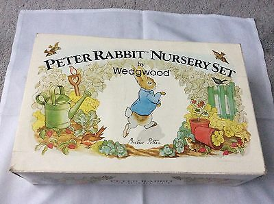Wedgwood Peter rabbit nursery set boxed
