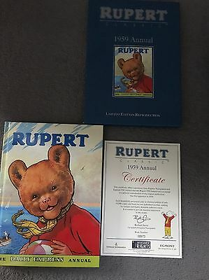 1959 RUPERT BEAR ANNUAL Reprint, With Cover And Certificate. No 973 Of 10,000