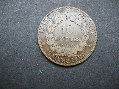 Very Old French Ten Cents Coin From 1897