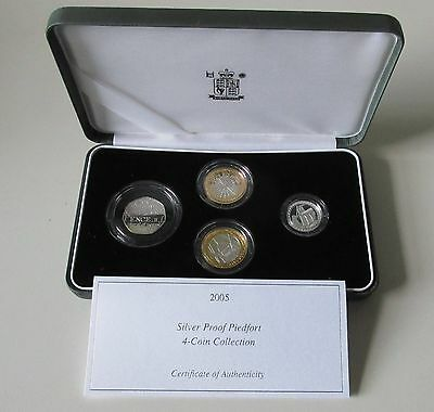 2005 UK Silver Proof Piedfort 4 Coin Collection