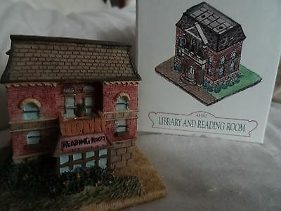 Liberty Falls Library And Reading Room Christmas Western Village Figurine