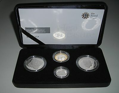 2008 UK Silver Proof Piedfort Four Coin Collection