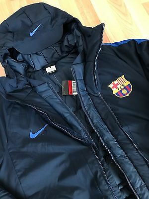 Fc Barcelona Nike Storm Winter Jacket Players. Shirt. Trikot. Jersey. Messi