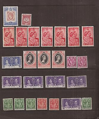 St Lucia  26 Stamps Mh