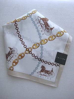 BRAND NEW Celine Horse Carriage Logo Handkerchief