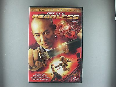 Fearless (DVD, 2006, Unrated Edition, Widescreen) JET LI'S