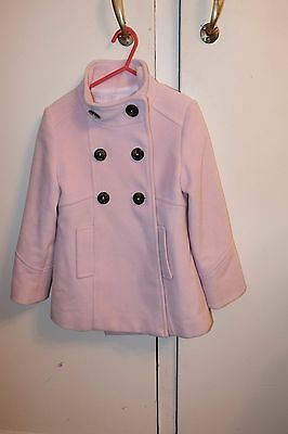 ZARA Girls beautiful baby pink coat/jacket age 5 -6 years